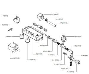 نقشه انفجاری 2 بخار شوی compact c90